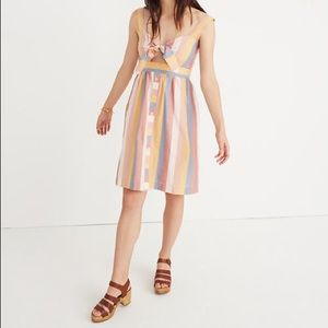 NWT Madewell Tie-Front Cutout Dress (00)